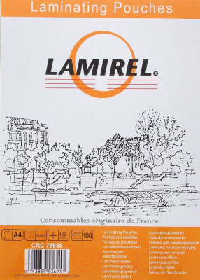 Пленка для ламинирования Fellowes Lamirel LA-78658 А4, 100мкм (100шт)