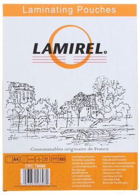 Пленка для ламинирования Fellowes Lamirel LA-78660 А4, 125мкм