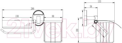 Держатель для туалетной бумаги Wisent W2903-1