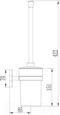 Ершик для унитаза Ledeme L1910-2