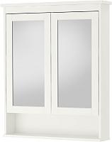 Шкаф с зеркалом для ванной Ikea Хемнэс 103.690.16 (белый) -