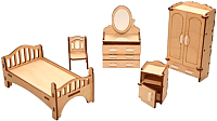 Комплект аксессуаров для кукольного домика POLLY Спальня ДК-1-001-02 -