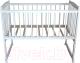 Детская кроватка Массив Беби 1 (белый) -