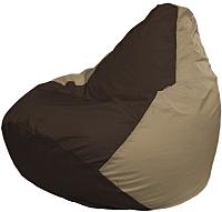 Бескаркасное кресло Flagman Груша Мини Г0.1-330 (коричневый/темно-бежевый) -