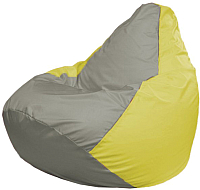 Бескаркасное кресло Flagman Груша Мини Г0.1-338 (серый/желтый) -