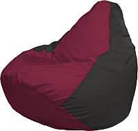Бескаркасное кресло Flagman Груша Макси Г2.1-299 (бордовый/черный) -