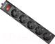 Сетевой фильтр Defender ES largo 1.8 / 99497 (1.8м, 5 розеток, черный) -