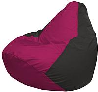 Бескаркасное кресло Flagman Груша Макси Г2.1-381 (фуксия/черный) -
