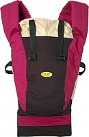 Эрго-рюкзак Selby Freedom (шоколад/бордо) -