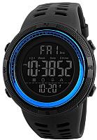 Часы наручные мужские Skmei 1251-2 (черный/синий) -