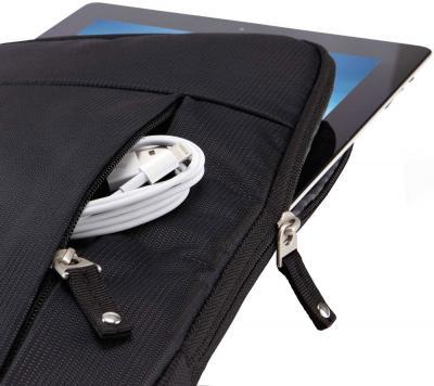 Чехол для планшета Case Logic TS-110K - с планшетом и кабелем во внешнем кармане
