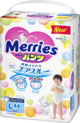 Подгузники-трусики детские Merries L (44шт)