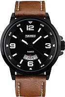Часы наручные мужские Skmei 9115-1 (черный/коричневый) -