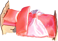 Комплект аксессуаров для кукольного домика POLLY Чудо-кровать со спальным набором -