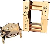 Комплект аксессуаров для кукольного домика POLLY Гостиная для больших кукол / ДК-2-07 -