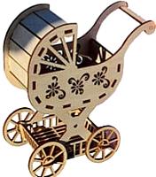 Комплект аксессуаров для кукольного домика POLLY Детская коляска для кукол -