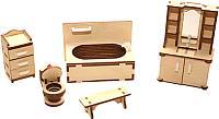Комплект аксессуаров для кукольного домика POLLY Ванная / ДК-1-05 -