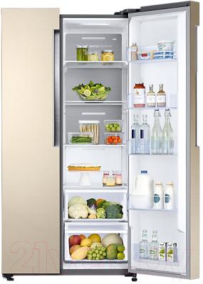 Холодильник с морозильником Samsung RS62K6130FG/WT