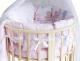 Комплект постельный в кроватку Баю-Бай Забава / К91-З1 (розовый) -