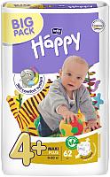 Подгузники детские Bella Baby Happy Maxi Plus 9-20кг (62шт) -
