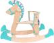 Качалка детская Woody Лошадка-3 / 01515 (бирюзовый) -