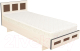 Односпальная кровать Барро М1 КР-017.11.02-03 90x186 (дуб девон) -