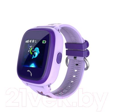 Умные часы детские Wonlex GW400S (фиолетовый)