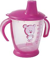 Поильник Canpol Мишка 9+ / 31/500 (180мл, розовый) -