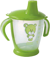 Поильник Canpol Мишка 9+ / 31/500 (180мл, зеленый) -