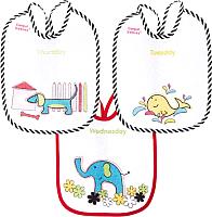 Набор нагрудников детских Canpol Цветные животные / 2/102 (7шт) -