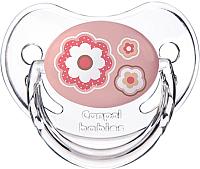 Пустышка Canpol Newborn Baby силиконовая анатомическая 6-18мес / 22/566 (розовый) -