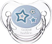 Пустышка Canpol Newborn Baby силиконовая анатомическая 6-18мес / 22/566 (голубой) -