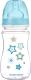 Бутылочка для кормления Canpol Newborn Baby с широким горлышком 3+ / 35/217 (голубой, 240мл) -