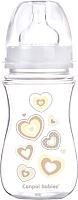 Бутылочка для кормления Canpol Newborn Baby с широким горлышком 3+ / 35/217 (бежевый, 240мл) -