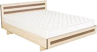 Двуспальная кровать Барро М2 КР-017.11.02-27 160x200 (дуб девон) -