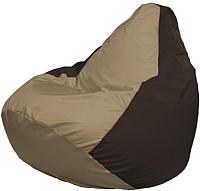Бескаркасное кресло Flagman Груша Мега Г3.1-93 (темно-бежевы/коричневый) -