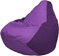 Бескаркасное кресло Flagman Груша Мега Г3.1-102 (сиреневый/фиолетовый) -