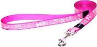 Поводок Rogz Lapz Trendy Lijn Lang Pink Bones M 16мм / RHLL523K -