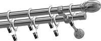 Карниз для штор Gardinia Пар 2хр D19 / 48-2020322 (320см, никель) -