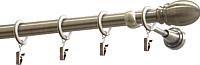 Карниз для штор Gardinia Пар D19 / 48-2029236 (160см, золото/античный) -