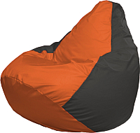 Бескаркасное кресло Flagman Груша Мега Г3.1-210 (оранжевый/темно-серый) -