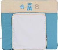 Пеленальный матрас Polini Kids Плюшевые мишки 85x75 (голубой) -