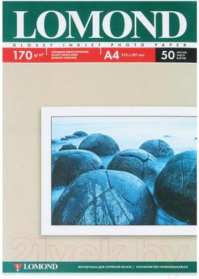 Фотобумага Lomond А4, 170 г/м, 50 л. / 0102142 (глянцевая)