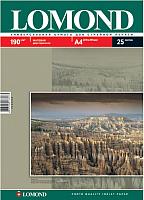 Фотобумага Lomond А4, 190 г/м, 25 л. / 0102036 (матовая) -