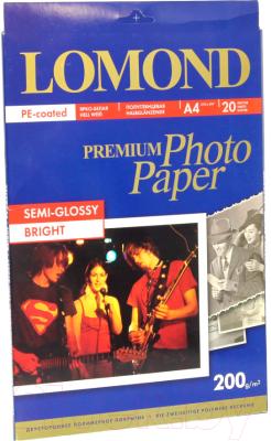 Фотобумага Lomond А4, 200 г/м, 20 л. / 0102149 (полуглянцевая)