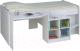 Кровать-чердак Polini Kids Simple 4000 со столом и полками (белый) -