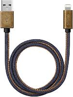 Кабель Deppa USB - 8-pin MFI / 72275 (медь/джинса синий ) -