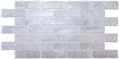 Панель ПВХ листовая, 5 шт. Grace Кирпич старый серый