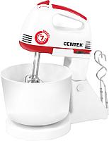 Миксер стационарный съемный Centek CT-1113 (белый/красный) -