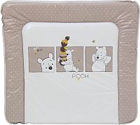 Пеленальный матрас Polini Kids Disney Медвежонок Винни (белый-макиато) -